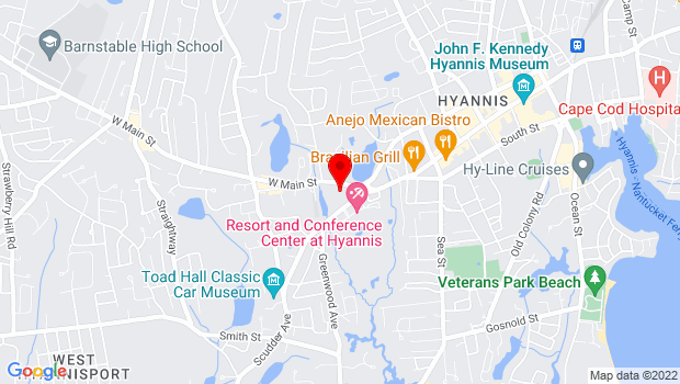 Google Map of 21 West Main Street, Hyannis, MA 02601