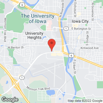Map of Check `n Go at 560 Highway 1 West, Iowa City, IA 52246