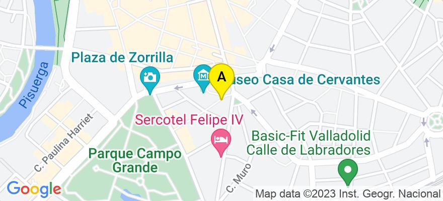 situacion en el mapa de . Direccion: Calle Perú, 1, 47004 Valladolid. Valladolid