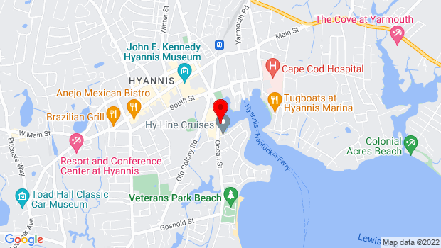 Google Map of 180 Ocean Street, Hyannis, MA 02601