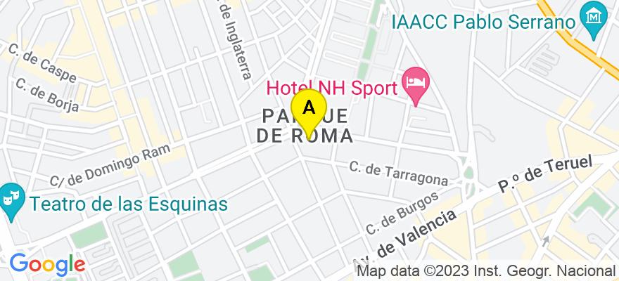 situacion en el mapa de . Direccion: Plaza Roma 6, 8D, 50010 Zaragoza. Zaragoza
