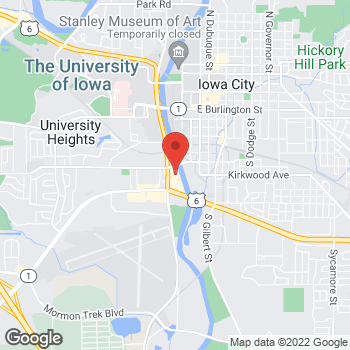Map of Staples at 820 South Riverside Drive, Iowa City, IA 52246