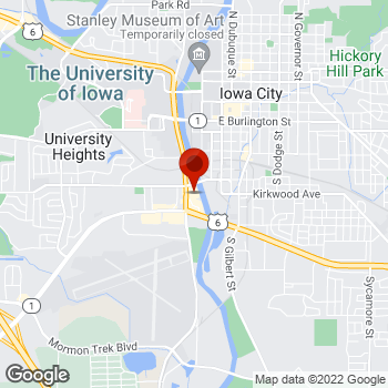 Map of Staples® Print & Marketing Services at 820 South Riverside Drive, Iowa City, IA 52246