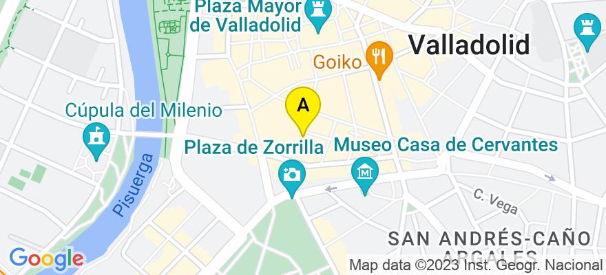 situacion en el mapa de . Direccion: C/ de Santiago 19, 2º C, 47001 Valladolid. Valladolid