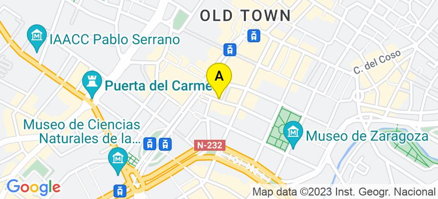situacion en el mapa de . Direccion: Felipe Sanclemente 7-9, 3º Centro, 50001 Zaragoza. Zaragoza
