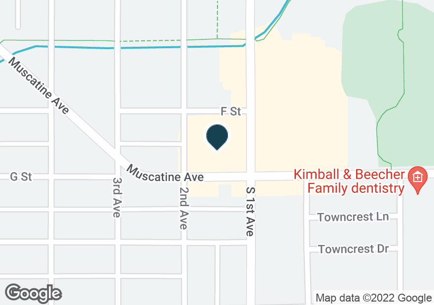 Google Map of2214 MUSCATINE AVE