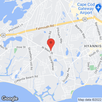 Map of Colleen E. Sari, MD at 460 West Main Street, Hyannis, MA 02601
