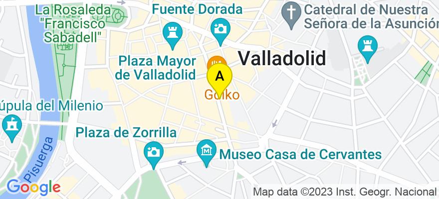 situacion en el mapa de . Direccion: C/ Duque de la Victoria 13, 2º B, 47001 Valladolid. Valladolid