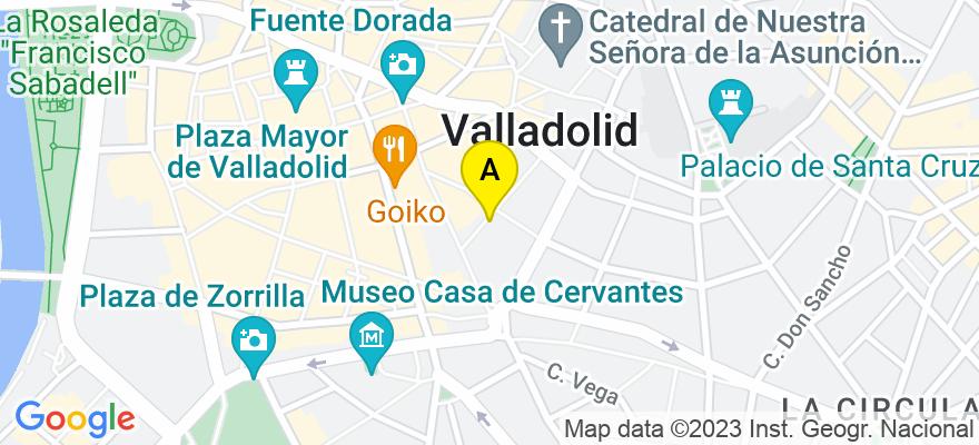 situacion en el mapa de . Direccion: C/ Enrique IV nº 4, 1º A-B, 47002 Valladolid. Valladolid