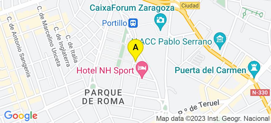 situacion en el mapa de . Direccion: Joaquín Orús, nº 12, 50001 Zaragoza. Zaragoza