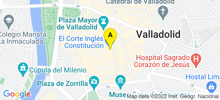 situacion en el mapa de . Direccion: calle Constitución Nº 2 - 2º D, 47001 Valladolid. Valladolid