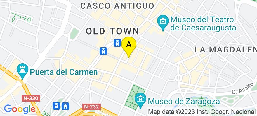 situacion en el mapa de . Direccion: Calle Blancas, n 2, 7 B, 50001 Zaragoza. Zaragoza
