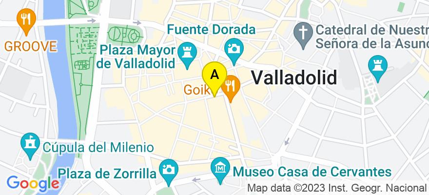 situacion en el mapa de . Direccion: Calle Constitución 8. 4-D, 47001 Valladolid. Valladolid