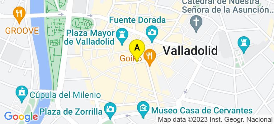 situacion en el mapa de . Direccion: Calle Constitución, 5, 2D, 47003 Valladolid. Valladolid