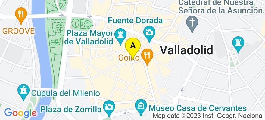 situacion en el mapa de . Direccion: Calle Constitución, 5, 2D, 47001 Valladolid. Valladolid