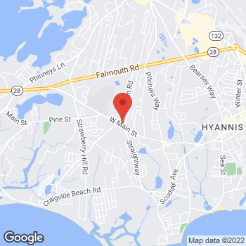 Map of Rite Aid at 520 West Main St, Hyannis, MA 02601
