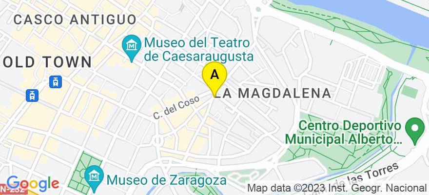situacion en el mapa de . Direccion: C/ Heroismo 1, 50002 Zaragoza. Zaragoza