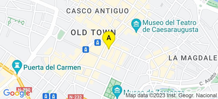 situacion en el mapa de . Direccion: Calle Jeronimo Blancas, 2, 7°B, 50001 Zaragoza. Zaragoza