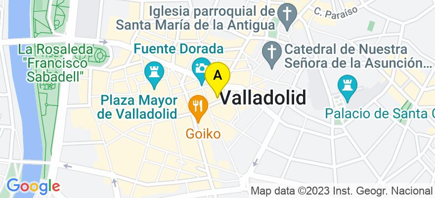 situacion en el mapa de . Direccion: REGALADO Nº 11-1º, 47002 Valladolid. Valladolid