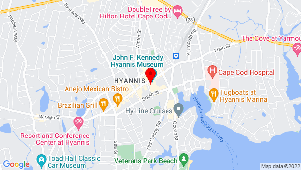 Google Map of 401 Main Street, Hyannis, MA 02601