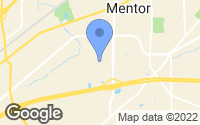 Map of Mentor, OH