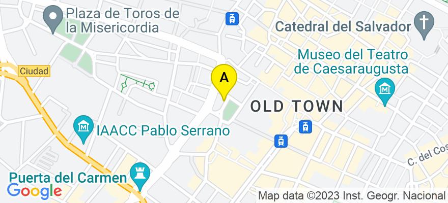 situacion en el mapa de . Direccion: Plaza Miguel Salamero, 14 - 2º L, 50004 Zaragoza. Zaragoza