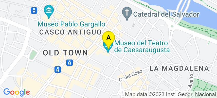 situacion en el mapa de . Direccion: San Pedro Nolasco, nº 1, 3º C, 50001 Zaragoza. Zaragoza