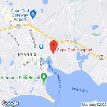 Map of Dogan H. Temizer, MD, FACC at 27 Park Street, Hyannis, MA 02601