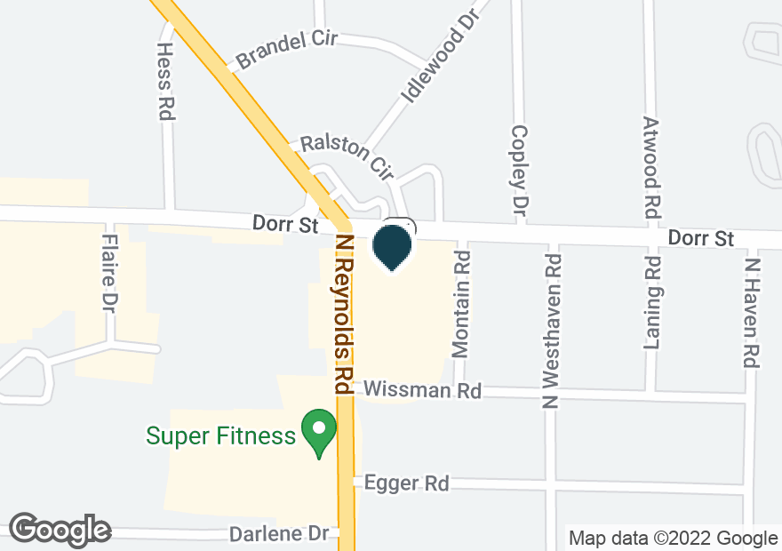 Google Map of1330 N REYNOLDS RD