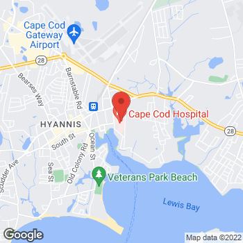 Map of Ines Kurjakovic, MD at 27 Park Street, Hyannis, MA 02601