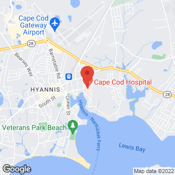 Map of James Rodriguez, MD at 27 Park Street, Hyannis, MA 02601