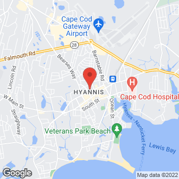 Map of Patricia S. Hammel, MD at 130 North Street, Hyannis, MA 02601