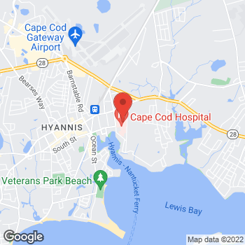 Map of Oliver M. Berrett, MD at 27 Park Street, Hyannis, MA 02601