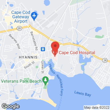 Map of Kelly A. Shine, MD, FACS at 27 Park Street, Hyannis, MA 02601