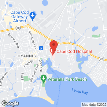 Map of Peter R. Ward, MD at 27 Park Street, Hyannis, MA 02601