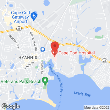 Map of Karen Monaghan, MD at 27 Park Street, Hyannis, MA 02601