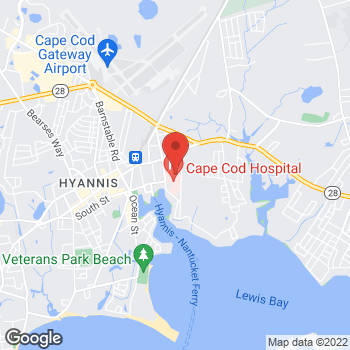 Map of Andrew Gerard Van Vugt, MD at 27 Park Street, Hyannis, MA 02601
