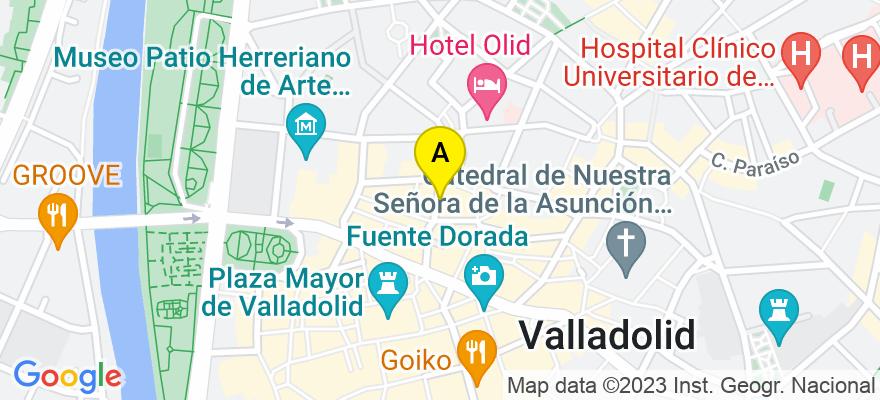 situacion en el mapa de . Direccion: ZAPICO, 8, 1º A, 47003 Valladolid. Valladolid