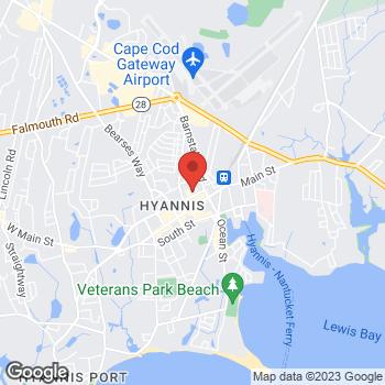 Gordon Nakata MD的地图,FAANS at 46 North Street, Hyannis, MA 02601