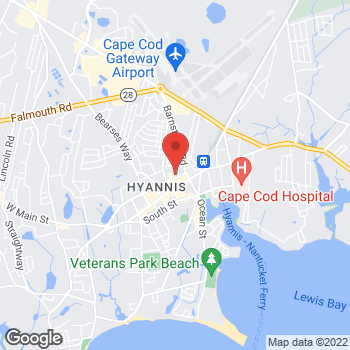 Map of Ahmad Abokhamis, MD at 46 North Street, Unit 7, Hyannis, MA 02601