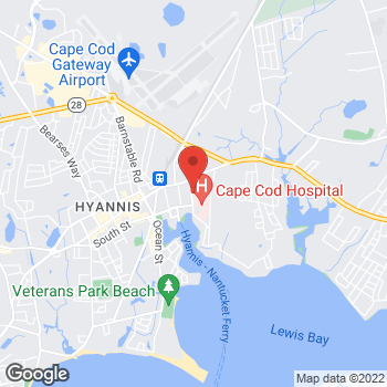 Map of Stephen W. Brooks, MD, FACS, RPVI at 40 Lewis Bay Road, Hyannis, MA 02601