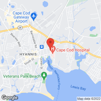 Map of Richard B. Lewis, MD at 40 Lewis Bay Road, Hyannis, MA 02601