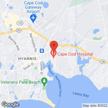 Map of David J. Pombo, MD at 34 Park Street, Hyannis, MA 02601