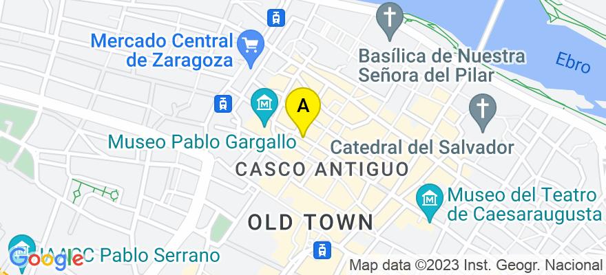 situacion en el mapa de . Direccion: C/ Torre Nueva, 31, 3º izda, 50003 Zaragoza. Zaragoza