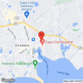 Map of Michael A. Loffredo, MD at 26 Gleason Street, Hyannis, MA 02601
