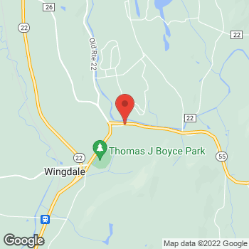Map of Optimum WiFi Hotspot at 35 Parmelee Rd, Wingdale, NY 12594