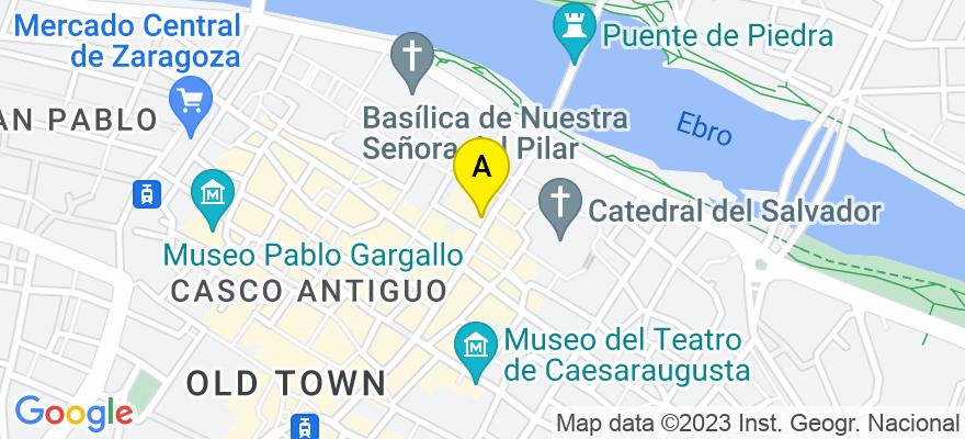 situacion en el mapa de . Direccion: santiago 27 4D, 50003 Zaragoza. Zaragoza