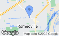 Map of Romeoville, IL