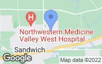 Map of Sandwich, IL