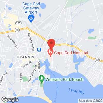 Map of Lindsay LaCorte, DO, MPH, FACOOG at 60A Park Street, Hyannis, MA 02601